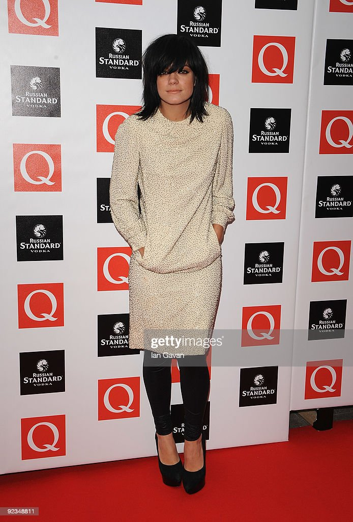 Lily Allen attends the Q Awards 2009 at the Grosvenor House Hotel on October 26, 2009 in London, England.
