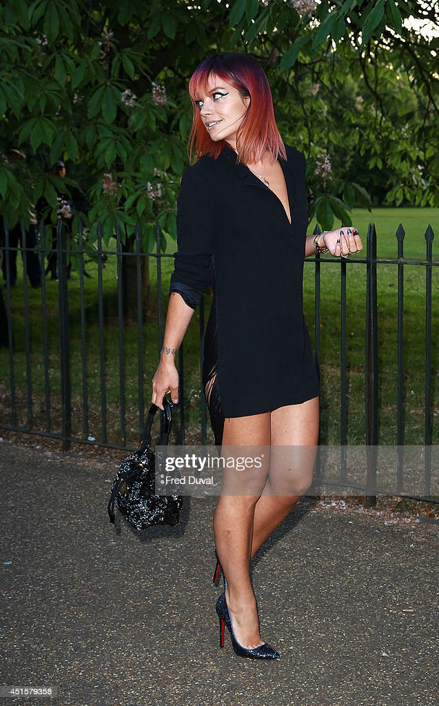 Lily Allen attends the The Serpentine Gallery summer party at The Serpentine Gallery on July 1, 2014 in London, England.