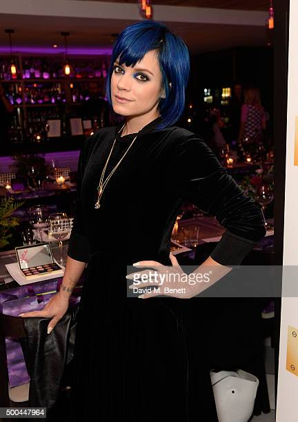 Lily Allen attends the Urban Decay x Gwen VIP dinner at Hotel Chantelle on December 8 2015 in London England