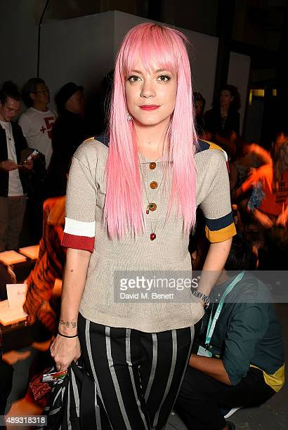 Lily Allen attends the Vivienne Westwood Red Label show during London Fashion Week SS16 at Ambika P3 on September 20 2015 in London England