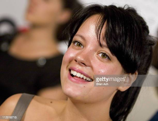 Lily Allen during Kanye West's 30th Birthday Celebration at Louis Vuitton Store in New York City New York United States