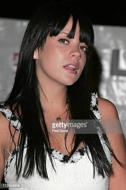 Lily Allen during LG Party Outside Arrivals at The Old Truman Brewery in London Great Britain