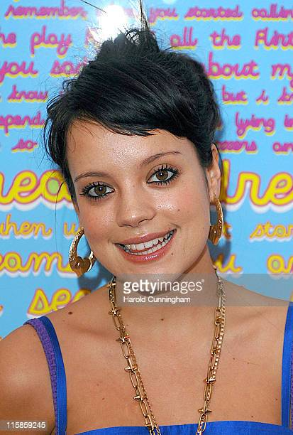Lily Allen during Lily Allen Charity It's Pop It's Art Signing at Earlham Street in London Great Britain