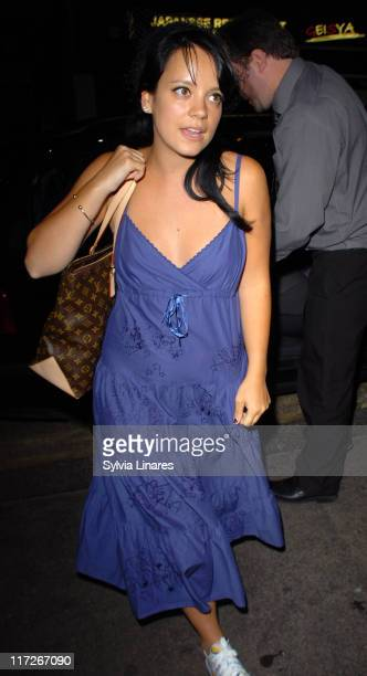 Lily Allen during Lily Allen Sighting at Groucho Club May 8 2007 at Groucho Bar Restaurant in London Great Britain