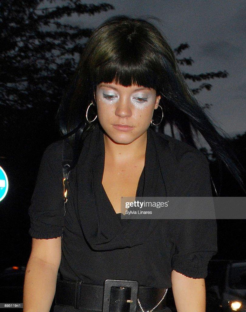 Lily Allen is seen on July 29, 2009 in London, England.