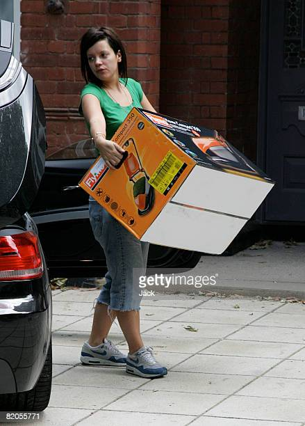 Lily Allen is sighted while buying a lawnmower in Notting Hill on July 24 2008 in London England