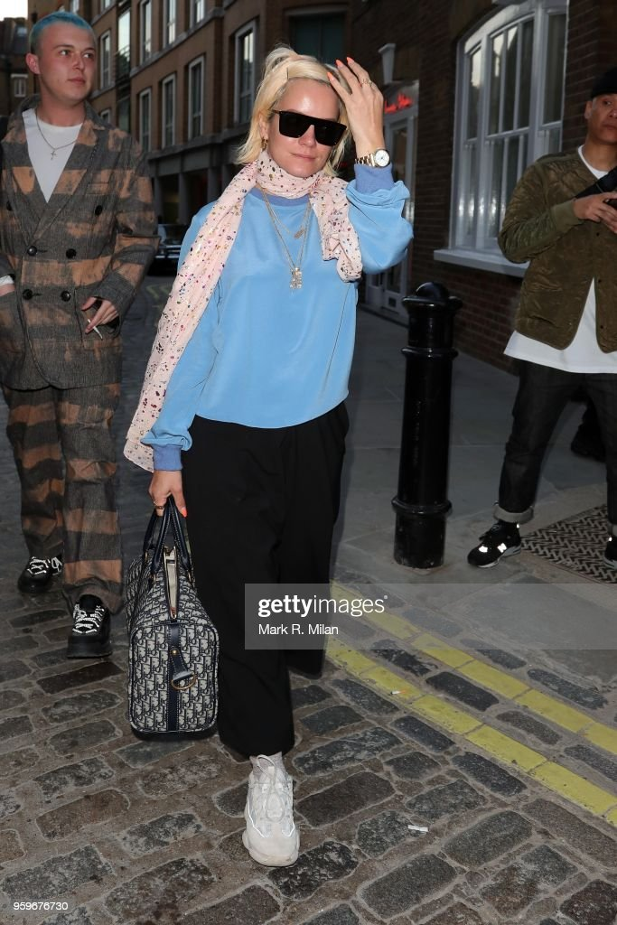 Lily Allen leaving the Planet Aries store in Covent Garden on May 17, 2018 in London, England.