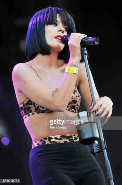 Lily Allen performing on stage Rock Werchter Festival Werchter Belgium 2nd July 2009