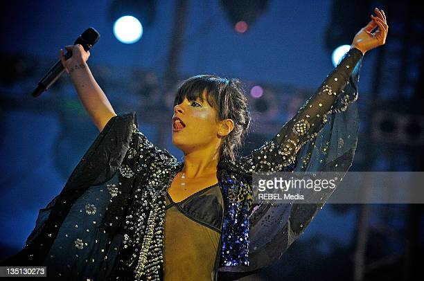 Lily Allen performs at day 1 of the Exit Festival on July 9 2009 in Novi Sad Serbia