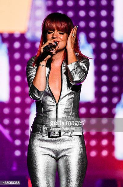 Lily Allen performs at Nassau Coliseum on August 1, 2014 in Uniondale, New York.