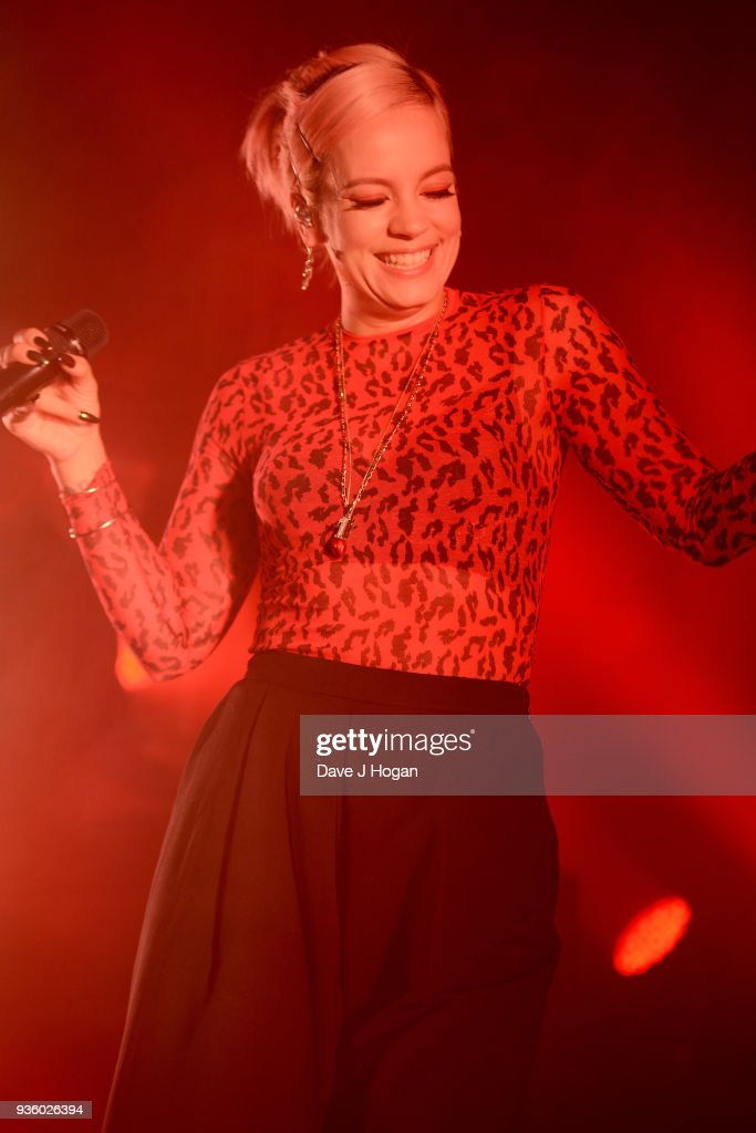 Lily Allen performs at The Dome, Tufnell Park on March 21, 2018 in London, England.