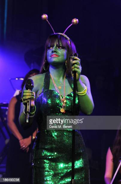 Lily Allen performs at the UNICEF UK Halloween Ball hosted by Jemima Khan raising vital funds for UNICEF's work for children affected by the current...