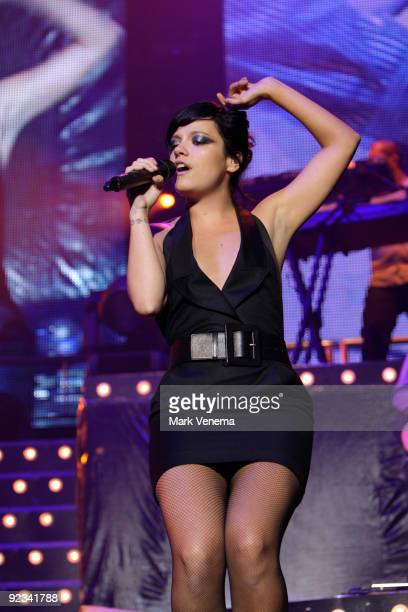 Lily Allen performs live at Heineken Music Hall on October 25 2009 in Amsterdam Netherlands