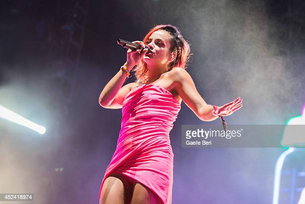 Lily Allen performs on Day 3 of Benicassim Music Festival on July 19 2014 in Benicassim Spain