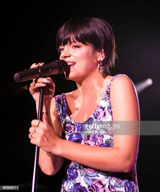 Lily Allen performs on stage at Birmingham Academy on March 23 2009 in Birmingham England