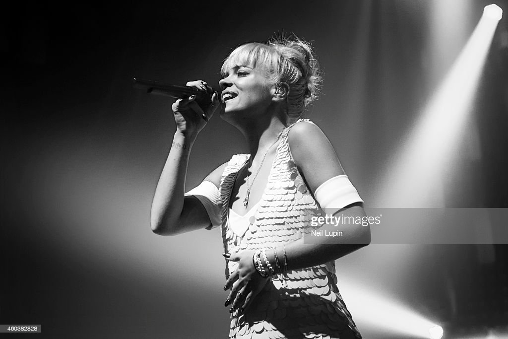 Lily Allen performs on stage at Brixton Academy on December 12, 2014 in London, United Kingdom.