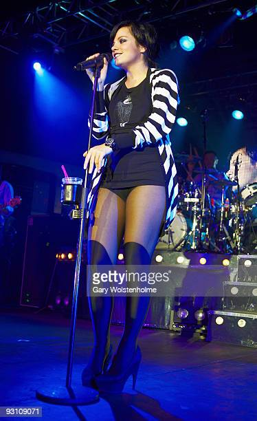 Lily Allen performs on stage at O2 Academy on November 16 2009 in Sheffield England