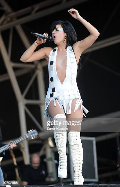 Lily Allen performs on the main stage on day 2 of Bestival September 12 2009 on the Isle of Wight in Newport United Kingdom