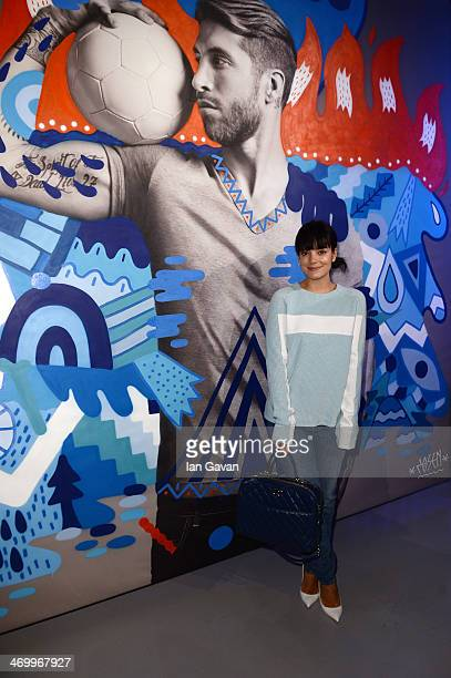 "Lily Allen pictured last night at the Pepsi Max ""Art of Football"" launch Unveiled at B1 Victoria House the exhibition features footballers Leo Messi..."