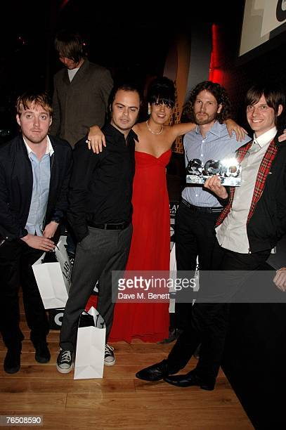 Lily Allen with Kaiser Chiefs including singer Ricky Wilson attend the GQ Men Of The Year Awards, at the Royal Opera House on September 4, 2007 in...