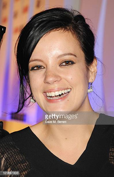 Lily Allen with the Solo Artist of the Year Award attend the Glamour Women Of The Year Awards at Berkeley Square Gardens on June 8 2010 in London...