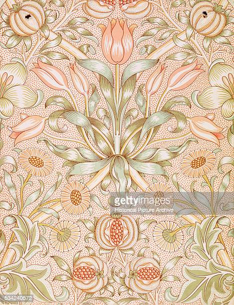 Lily and Pomegranate Wallpaper by William Morris