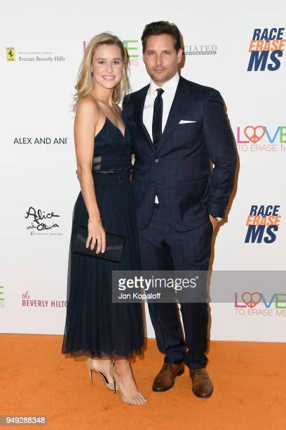 Lily Anne Harrison and Peter Facinelli attend the 25th Annual Race To Erase MS Gala at The Beverly Hilton Hotel on April 20 2018 in Beverly Hills...