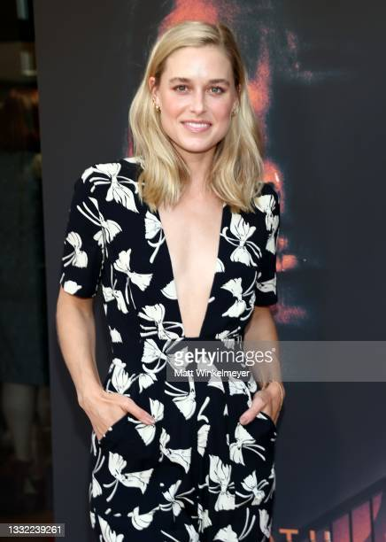 """Lily Anne Harrison attends the Los Angeles Premiere of """"Aftermath"""" at The Landmark Westwood on August 03, 2021 in Los Angeles, California."""