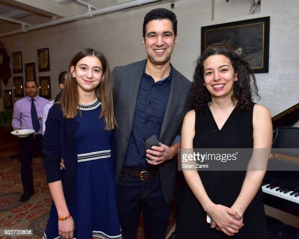 Lily Babu Author Chris Babu and Maya Rock attend 'The Initiation' Book Launch at Bouley TK on March 15 2018 in New York City