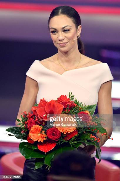Lily Becker speaks on stage during the tv show '2018 Menschen Bilder Emotionen' on December 3 2017 in Cologne Germany