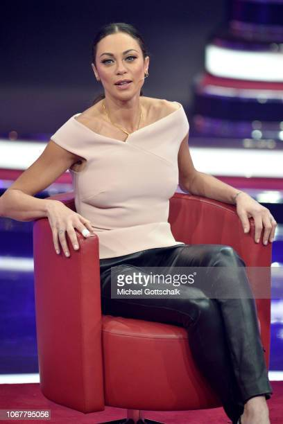Lily Becker speaks on stage during the tv show '2018! Menschen, Bilder, Emotionen' on December 3, 2017 in Cologne, Germany.