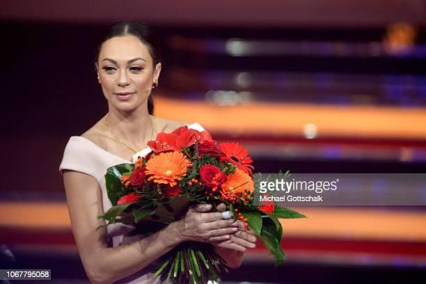 Lily Becker speaks on stage during the tv show '2018 Menschen Bilder Emotionen' on December 3 2017 in Cologne Germany