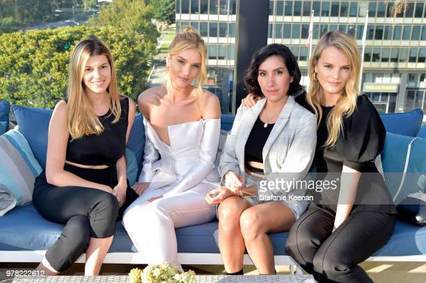 Lily Berg Rosie HuntingtonWhiteley Jen Atkin and Kelly Sawyer Patricof attend the BoF West Summit at Westfield Century City on June 18 2018 in...