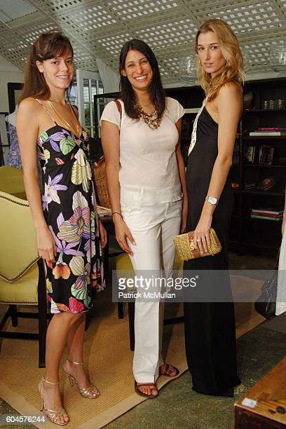 Lily Bunn Megan Richer and Lauren Remington Platt attend HOLLYWOULD Cruise 2007 Collection Launch at Mecox Gardens on June 17 2006 in Southampton NY