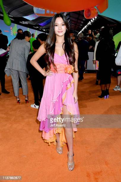 Lily Chee attends Nickelodeon's 2019 Kids' Choice Awards at Galen Center on March 23 2019 in Los Angeles California