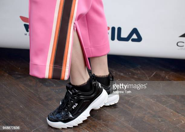 Lily Chee attends the Launch of the FILA Mindblower PopUp Powered by Ciroc on April 19 2018 in New York City