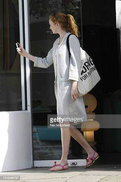Lily Cole And Enrique Murciano sighting on July 14 2009 in London England
