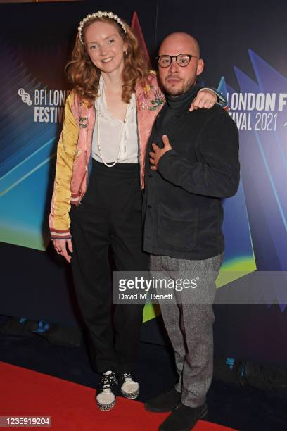 """Lily Cole and Executive Producer Sam Pressman attend the UK Premiere of """"She Will"""" during the 65th BFI London Film Festival at the The Curzon Mayfair..."""