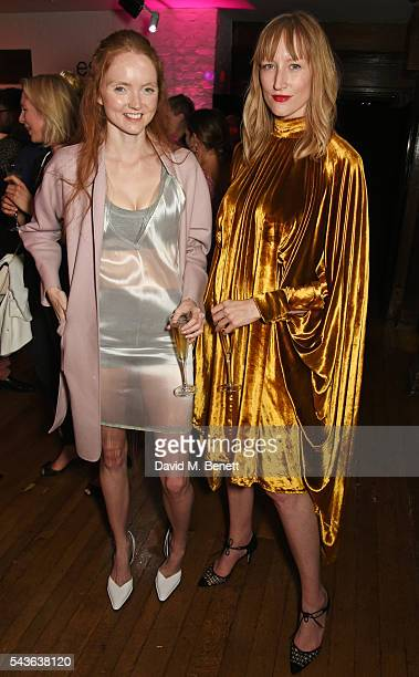 Lily Cole and Jade Parfitt attend the World Premiere after party of Absolutely Fabulous The Movie at Liberty on June 29 2016 in London England