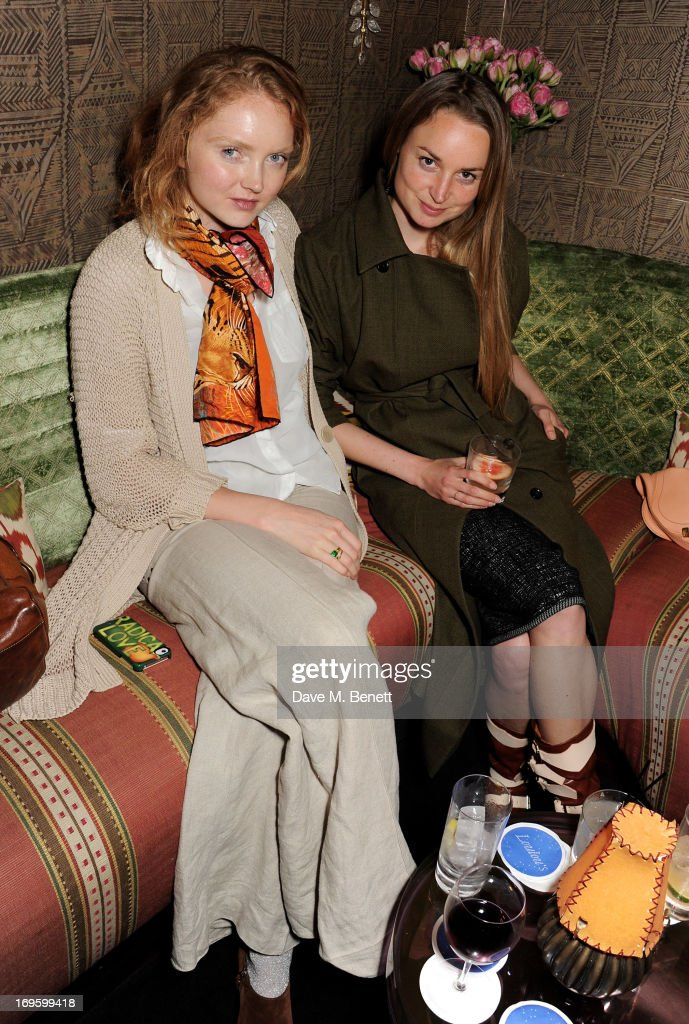 Lily Cole (L) and Katherine Poulton attend the launch of 'The New Digital Age: Reshaping The Future Of People, Nations and Business' by Eric Schmidt and Jared Cohen, hosted by Jamie Reuben, at Loulou's on May 28, 2013 in London, England.