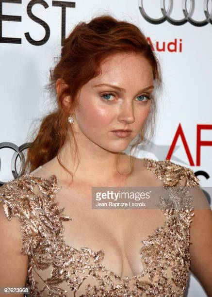 Lily Cole arrive at AFI FEST 2009 Screening Of 'The Imaginarium Of Doctor Parnassus' on November 2, 2009 in Los Angeles, California.