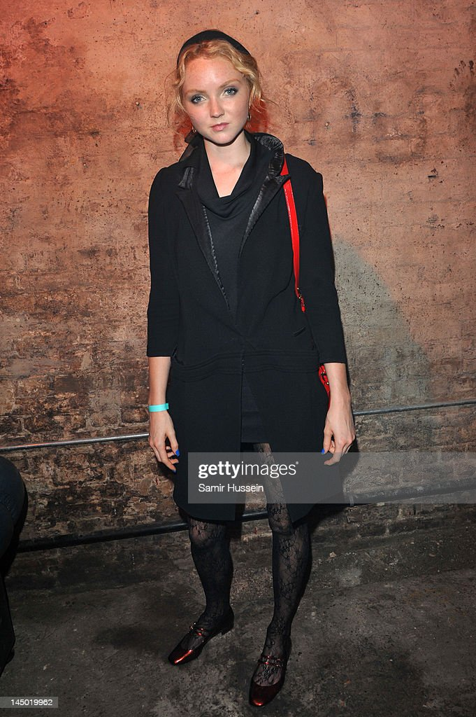 Lily Cole arrives at 'A Night Out With The Millennium Network,' at the Old Vic Tunnels, presented by The Clinton Foundations and The Reuben Foundation. The evening, hosted by Bill Clinton, Chelsea Clinton, Gwyneth Paltrow and Will i Am took place on the 22nd May 2012 in London, England.