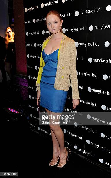 Lily Cole arrives at the Sunglass Hut Flagship store launch on April 29 2010 in London England