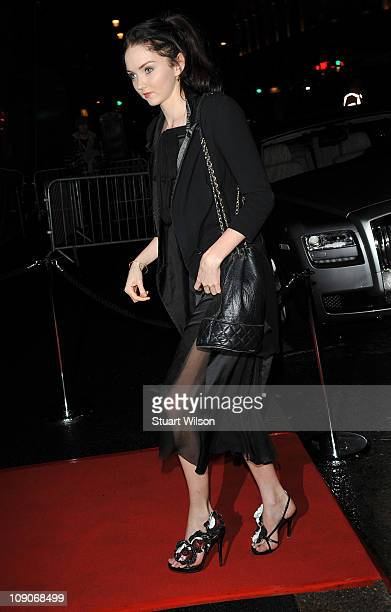 Lily Cole arrives at The Weinstein Company BAFTA Party at the W Hotel Leicester Square on February 13 2011 in London England