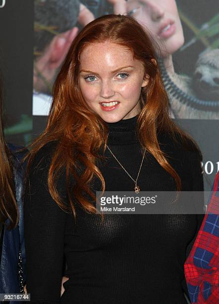 Lily Cole attends photocall to launch the 2010 Pirelli Calendar on November 19 2009 in London England