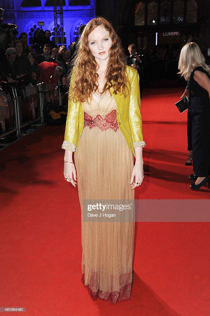 Lily Cole attends the BFI Luminous Funraising Gala at The Guildhall on October 6, 2015 in London, England.