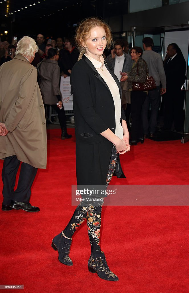 Lily Cole attends the European Premiere of 'Twelve Years A Slave' during the 57th BFI London Film Festival at Odeon Leicester Square on October 18, 2013 in London, England.