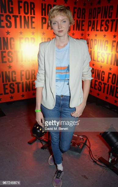 Lily Cole attends the Hoping For Palestine benefit concert for Palestinian refugee children at The Roundhouse on June 4 2018 in London England