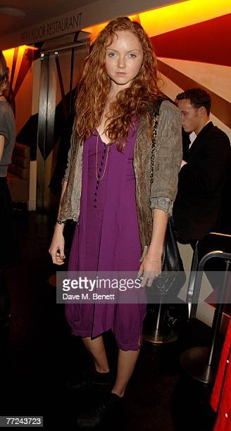 Lily Cole attends the launch dinner of The Row hosted by Mary Kate and Ashley Olsen at Harvey Nichols on October 9 2007 in London England
