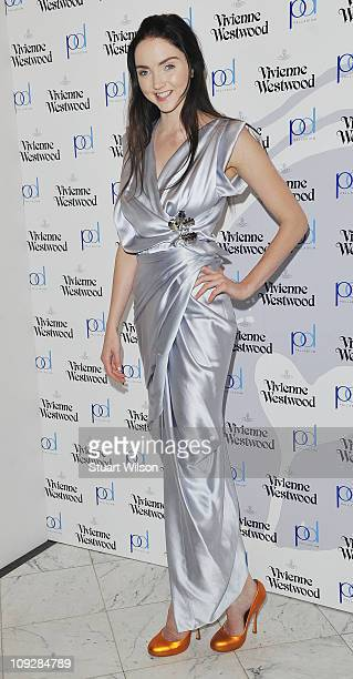 Lily Cole attends the launch of Vivienne Westwood's Get A Life Palladium jewellery launch party on February 18 2011 in London England